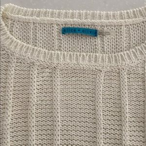 Classic off white Alice + Olivia Sweater